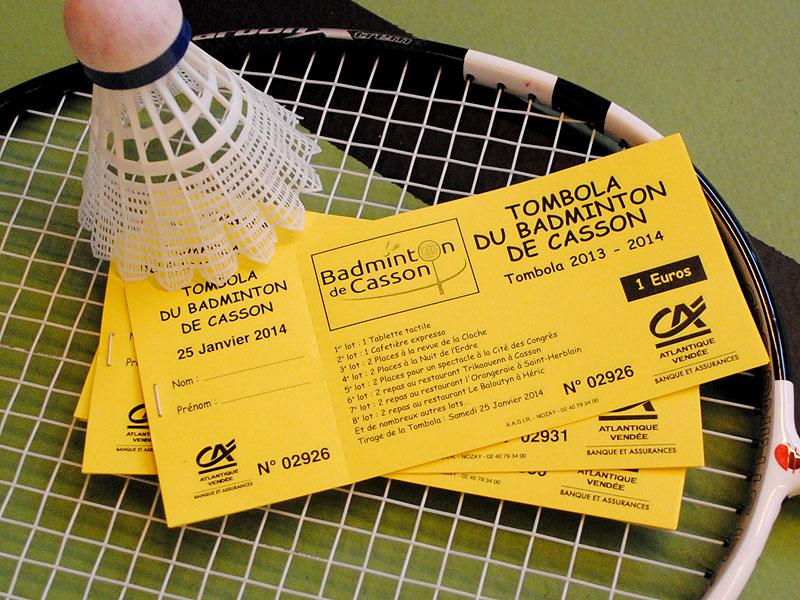 Tombola 2013-2014 du Badminton de Casson