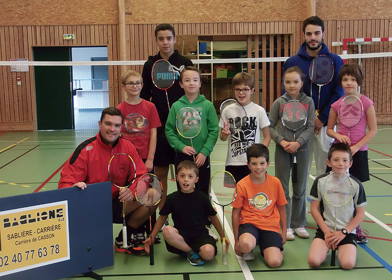 Stage de badminton poussins - octobre 2013