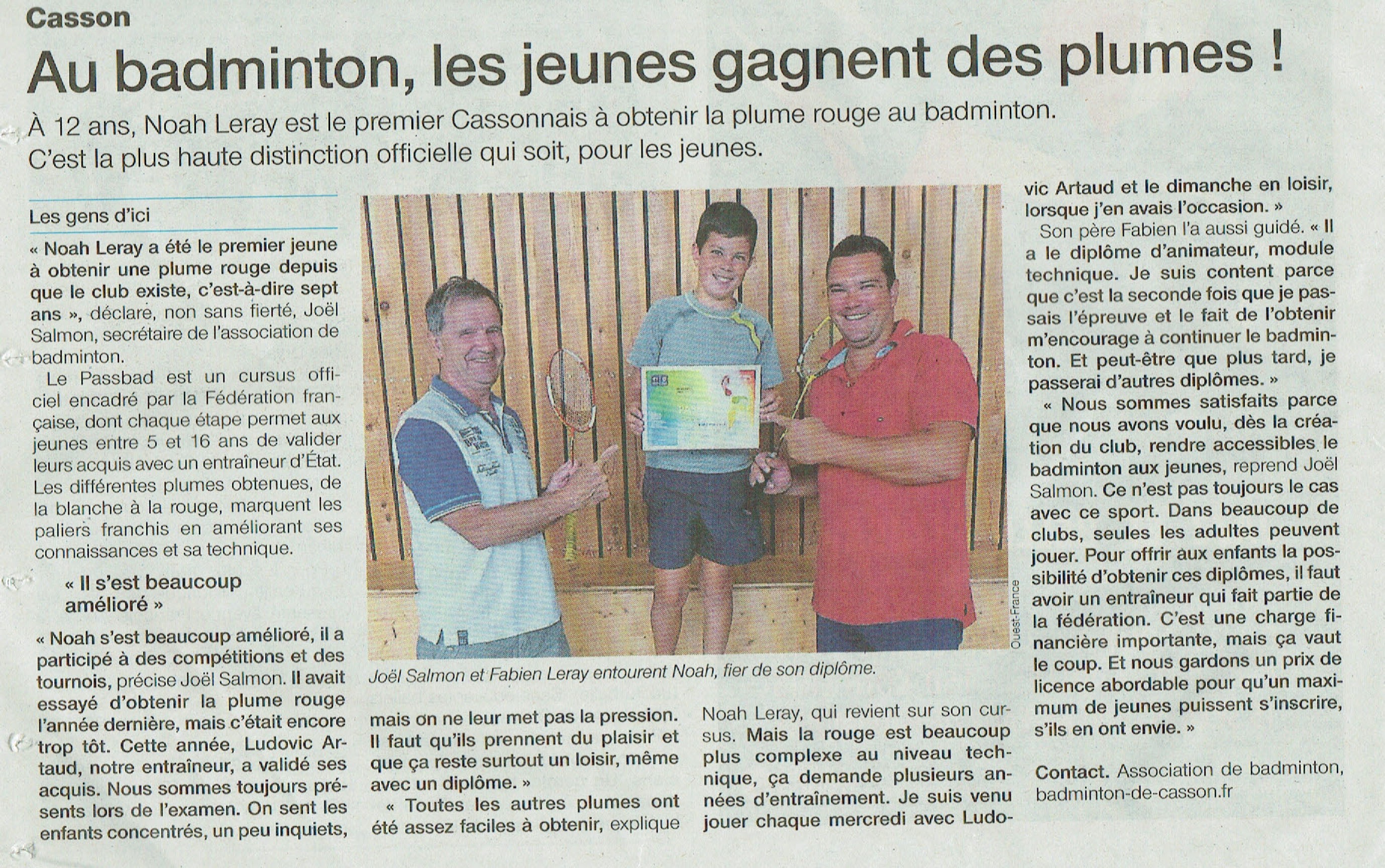 Article Ouest-France Diplome copie