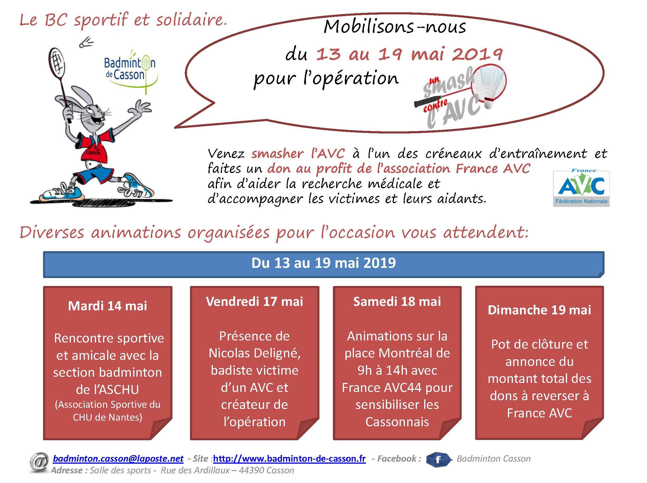 Animations semaine Opération - Un smash contre l'AVC du 13 au 19 mai (1)