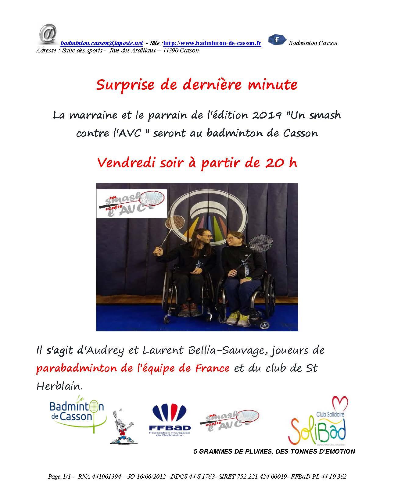 Surprise de derniere minutes - Audrey et Laurent a Casson